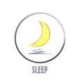 icon basic sleep under the moon shard vector image