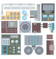 industrial buildings elements - set of modern vector image vector image