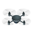 isometric electric wireless rc quadcopter drone vector image