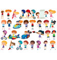 large set isolated objects kids vector image vector image