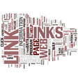 links text background word cloud concept vector image vector image