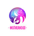 logos of child care motherhood and childbearing vector image vector image