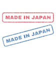 made in japan textile stamps vector image vector image