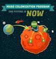 Mars colonization program vector image