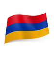 national flag of armenia red blue and yellow vector image vector image