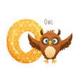 o letter and cute owlet baby animal zoo alphabet