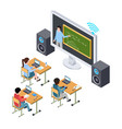 online education concept international vector image vector image
