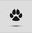 pets paw dog footprint flat icon vector image vector image