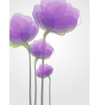 purple flowers - elegant design vector image