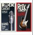 rock concert banner vector image