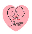 romantic concept lettering vector image