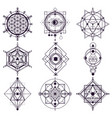 sacred geometry abstract symbols esoteric vector image vector image