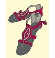 sandals sketch vector image vector image