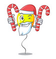 santa with candy yellow balloon isolated on for vector image
