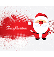 santa with grunge vector image vector image