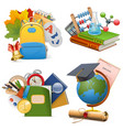 School Concept Icons vector image
