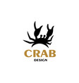 sea crab with claws vector image vector image