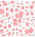 seamless background pattern - pink sakura blossom vector image