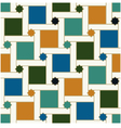 seamless geometric islamic squared stars pattern vector image