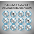 Set of media control buttons vector image