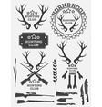 Set of vintage hunting logo labels and badges Deer vector image