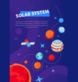 solar system - modern colorful isometric web vector image vector image