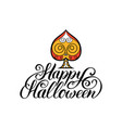 spade with happy halloween vector image vector image