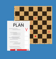 strategic plan concept vector image vector image