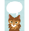 talking cat with a text bubble vector image