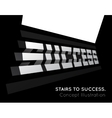 Te word success on the stairs vector image vector image