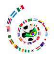 The 32 Teams in The Brazil 2014 vector image vector image