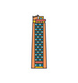 tower sky icon cartoon style vector image vector image