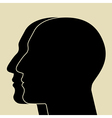 Two heads sIlhouette vector image