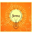 Typographic retro grunge summer poster vector image vector image