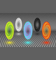 various color portals isolated vector image vector image