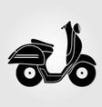 Vintage scooter icon isolated on white background