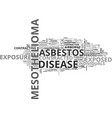 who is at risk for mesothelioma text word cloud vector image vector image