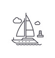 yacht line icon concept yacht linear vector image vector image
