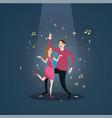 couple dance together celebration under spot light vector image