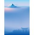 Fuji and torii vector image