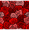 Vintage roses seamless background vector image