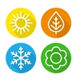 Set of icons seasons vector image