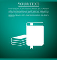 book icon on grey background vector image