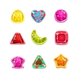 Colourful Glossy Candies of Various Shapes vector image