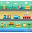 Industrial buildings factories horizontal banners vector image