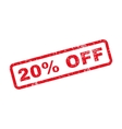 20 Percent Off Text Rubber Stamp vector image vector image