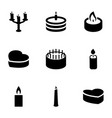 9 candle icons vector image vector image