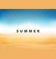 abstract summer background with sun burst blue vector image
