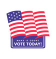 american presidential vote sticker united states vector image