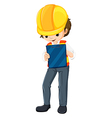 An engineer with a chart vector image vector image